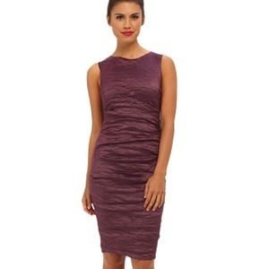 Nicole Miller Dresses - Nicole Miller Purple Ruched Metallic Dress